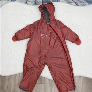 Catimini toddler girl's zipper snowsuit warm comfy
